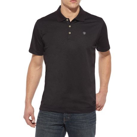 Ariat Tek Polo S/S Shirt -  Black