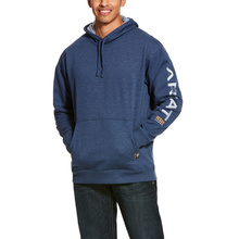 Ariat Rebar Graphic Pullover Hooded Sweatshirt - Navy Heather