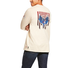 Ariat FR Freedom Eagle Graphic Crewneck L/S Shirt - Sand