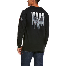 Ariat FR Freedom Eagle Graphic Crewneck L/S Shirt - Black