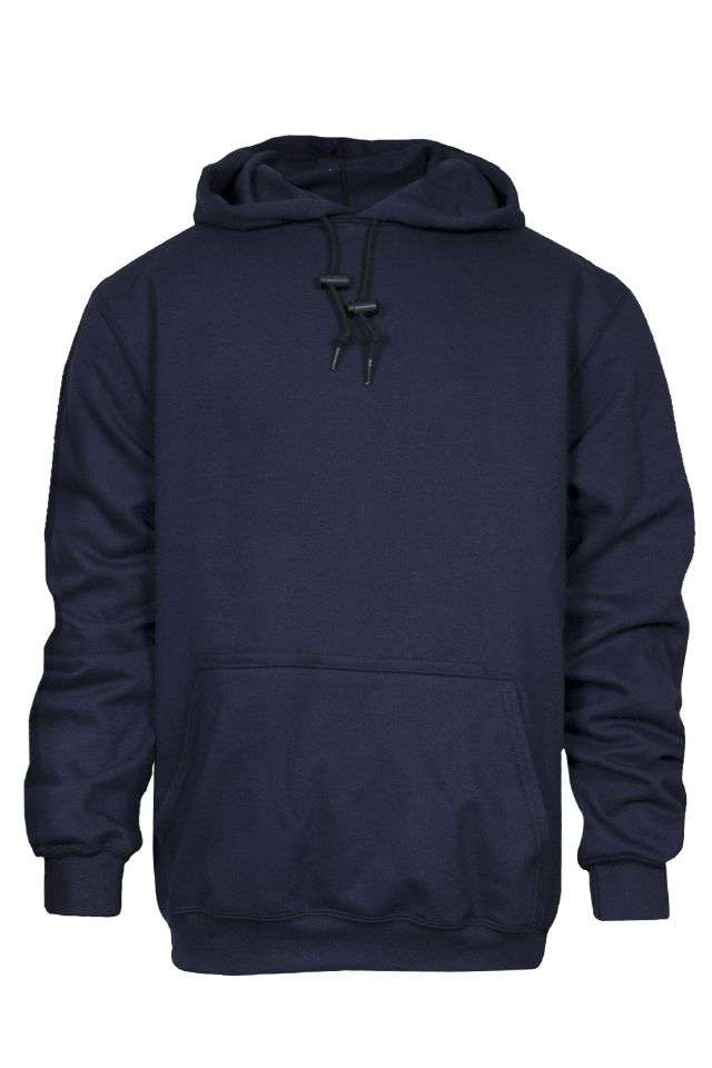 NSA FR Double Thick Hooded Pullover Sweatshirt - Navy