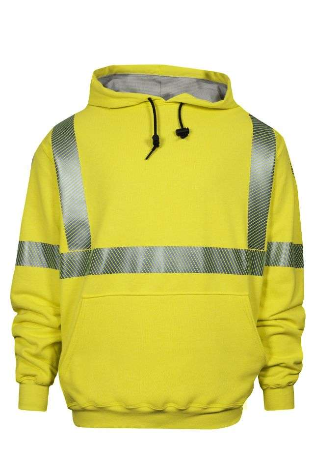 NSA FR Class 3 Thermal Lined Heavyweight Pullover Sweatshirt - Hi-Vis Yellow