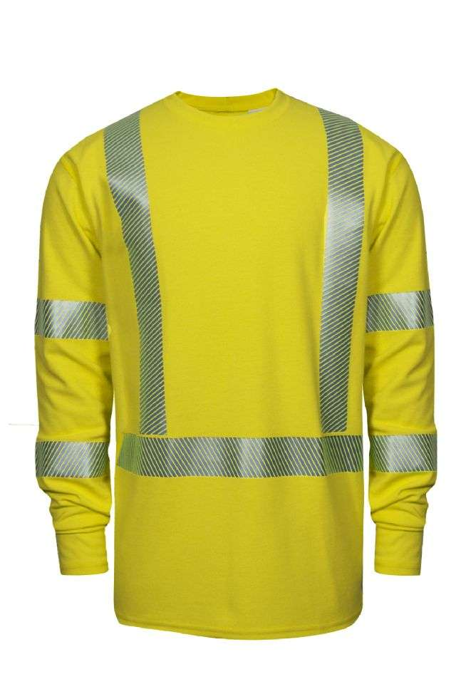 NSA DRIFIRE FR Class 3 Heavyweight Crewneck  L/S Shirt - Hi-Vis Yellow