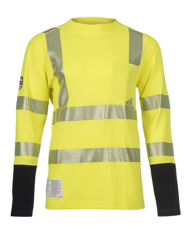 Dragonwear FR HI-VIS Pocketed Power Dry® Dual Hazard L/S Shirt