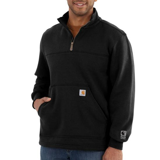 Carhartt Rain Defender® Paxton Heavyweight Quarter Zip Mock Neck Sweatshirt