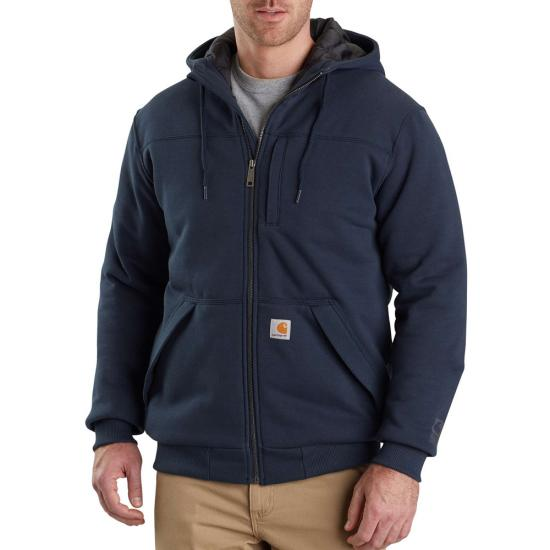 Carhartt Rain Defender® Rockland Quilted Lined Zip Front Hooded Sweatshirt