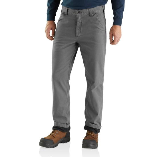 Carhartt Relaxed Fit Boot Cut Rugged Flex Rigby Knit-Lined Work Pant