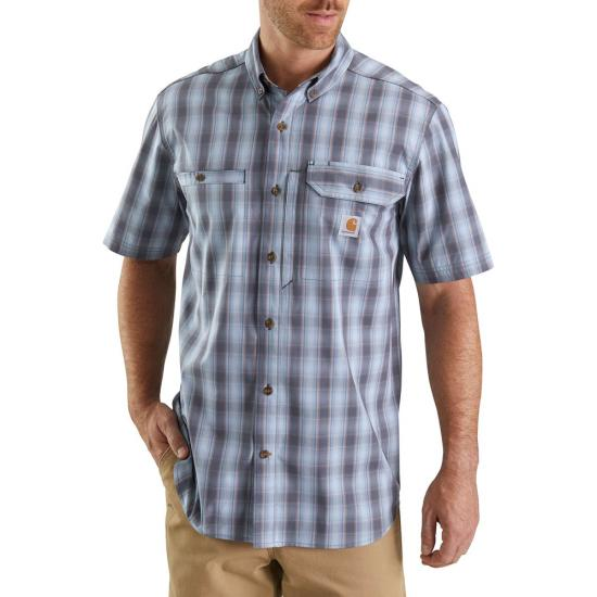 Carhart Force Ridgefield Plaid Button Front S/S Shirt