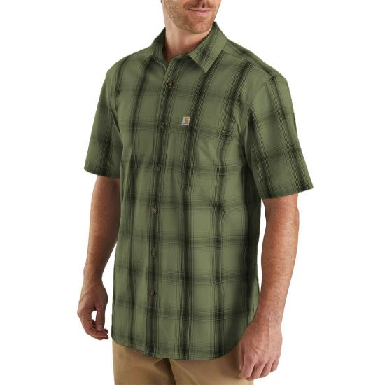 Carhartt Essential Plaid Open Collar Button Front S/S Shirt
