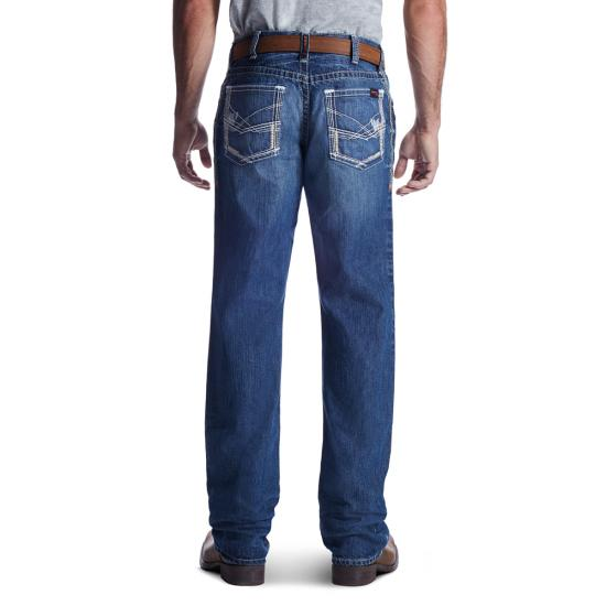 Ariat FR M4 Relaxed Fit Boot Cut Ridgeline Jean - Glacier