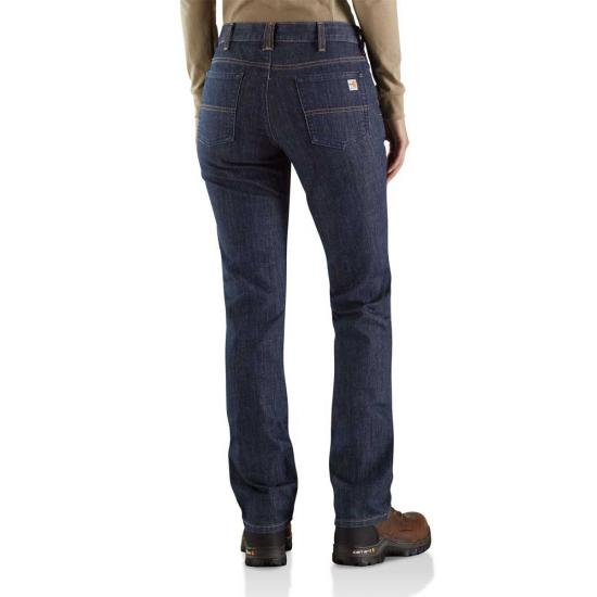 Carhartt Women's FR Mid Rise Boot Cut Rugged Flex Jean Original Fit