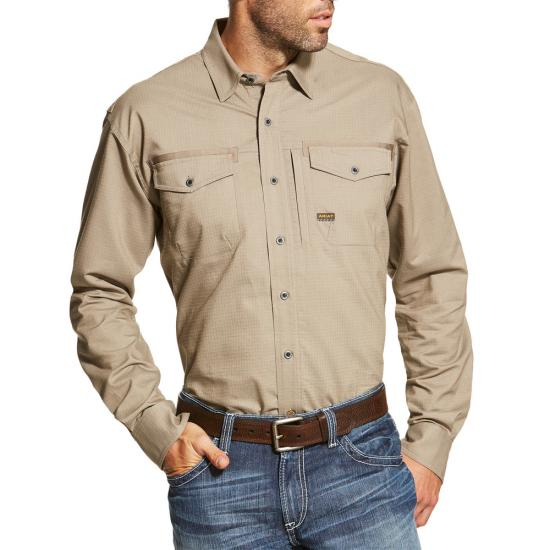 Ariat Rebar Work Shirt L/S - Brindle