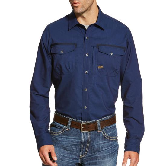 Ariat Rebar Work Shirt L/S - Navy