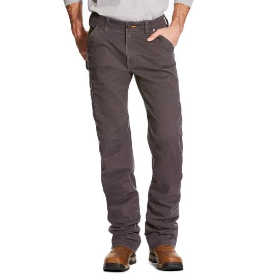 Ariat Rebar M4 Washed Twill Dungaree - Rebar Grey