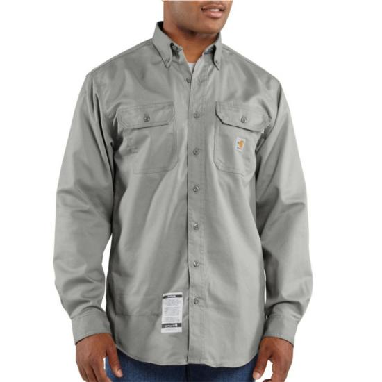 Carhartt FR Button Front Twill Shirt with Pocket Flaps