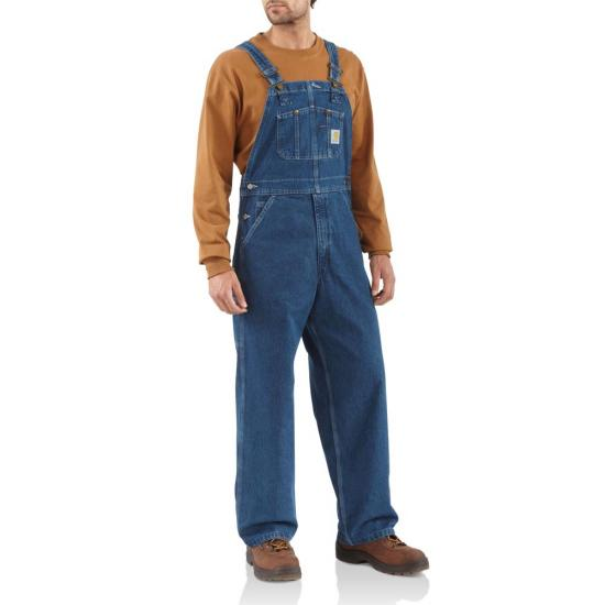 Carhartt Washed-Denim Bib Overalls