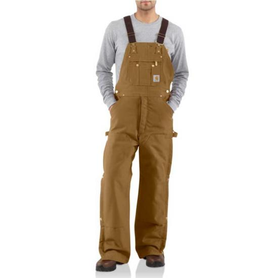 Carhartt Quilt Lined Zip-To-Thigh Bib Overalls